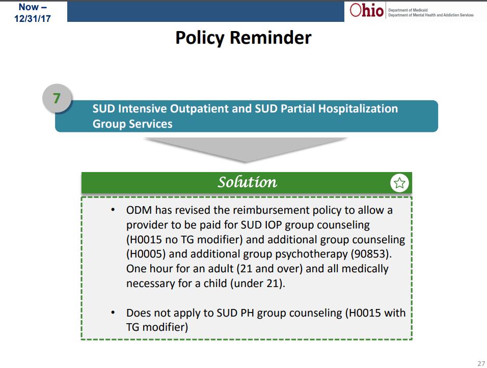 SUD and IOp ⋆ Behavioral Health Billing Solutions, LLC