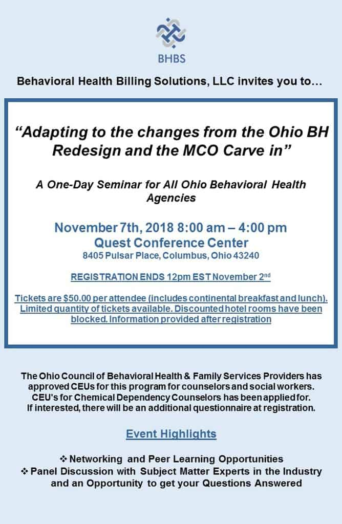 Adapting to Change ⋆ Behavioral Health Billing Solutions, LLC